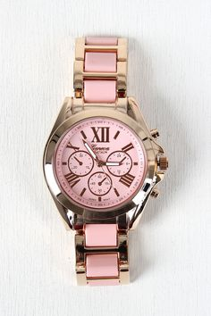 Solid Link Watch - Pink Description A colorful  watch  featuring a round face, dial markers, stainless steel back, and snap closure.   Measurement Measures approx. 5' L x 3  D. UNG52218PNK   http://p.nembol.com/p/41zTxfWHTl Published via Nembol app