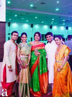 Indian Bridal Sarees, South Indian Sarees, Indian Bridal Fashion, Kerala Bride, South Indian Bride, Big Indian Wedding, Indian Weddings, Desiner Sarees, Sister Poses