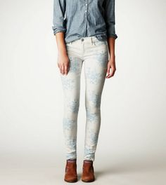 Floral-Print Jegging.  Follow us on #facebook:  https://www.facebook.com/westfieldsanfranciscocentre