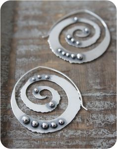 Lagom Hoops Sterling Silver Spiral Earrings by RosyRevolver