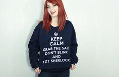 SuperWhoLock Fandom Sweatshirt - Many sizes available - Supernatural Doctor Who Sherlock multifandom tumblr unisex gift... OMG I WANT