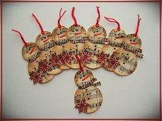 Shoregirl's Creations: Snowman Tags