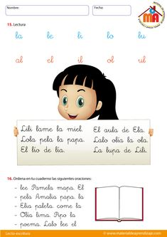 Flashcards For Kids, Spanish Class, Homeschool, Leo, Stickers, Education, Movie Posters, Early Education, Activities