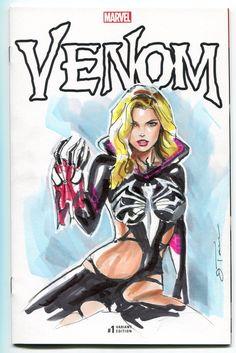 Gwenom Comic Art
