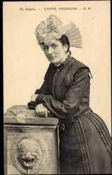 Postcard Angers Maine et Loire, Coiffe Angevine, Frau in Tracht