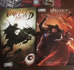 ANY QUESTIONS FOR TONIGHT'S SHOW? AND -- READY FOR A PETE'S BASEMENT GIVEAWAY!? Tune in live on Periscope at 9:30pm EAT to find out how you can win one of these copies of #VampireHunterD from @strangercomics! #VHD #StrangerComics #vampires #vampire #vampirehunter #Blade #Dracula #HeMan #Thundercats #Skeletor #MummRa #LionO #DCcomics #DarkHorseComics #Thanos #DoctorStrange #GIJoe #Flash #TheFlash #Supergirl #Arrow #GreenArrow #LegendsofTomorrow