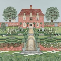 Greeting Cards » Manor House Greetings Card » Manor House Greetings Card - Sally Swannell