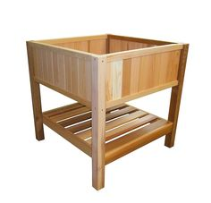 36 inch tall model shown here with included bottom shelf For herbs on the deck
