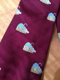 Vintage-Necktie-With-Mouse-Mice-Swiss-Cheese-By-Pedigree-By-Michel by 23burtonavenue