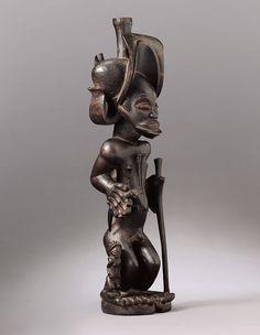Chibinda Ilunga, Lunda; Angola, vor 1850, Holz, Höhe 49 cm, Museum Rietberg Zürich    © Museum Rietberg Zürich, Foto: Rainer Wolfsberger