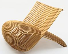 "Wood Chair by Marc Newson (Australian, born 1963). 1988. Wood, 24 3/8 x 32 1/4 x 39 3/4"" (61.9 x 82.6 x 101 cm)."