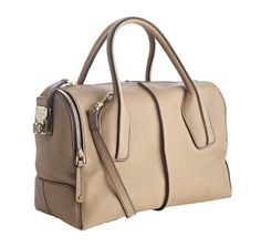 Tod's Brown Tobacco Leather D-styling Trunk Tote