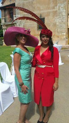 #invitadas de nuestra propia #boda #tocados #carmen sanchez