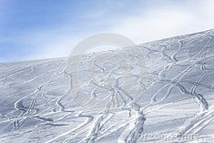 Ski And Snowboard Tracks On A Slope Stock Photo - Image of snow, blue: 87316346 Snow Images, Ski And Snowboard, Skiing, Track, Mountain, Stock Photos, Photography, Blue, Outdoor