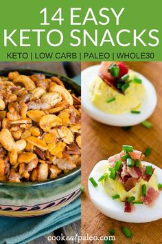 Looking for keto-friendly foods to fight a snack attack? We've got you covered with these 14 easy and delicious keto snack recipes. These recipes are simple, fast and will give you plenty of keto snack ideas to enjoy and share. Best Gluten Free Recipes, Gluten Free Snacks, Keto Snacks, Snack Recipes, Healthy Recipes, Banting Recipes, Keto Foods, Easy To Make Snacks, Low Carb Appetizers