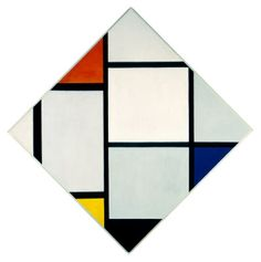 Tableau No. IV; Lozenge Composition with Red, Gray, Blue, Yellow, and Black Piet Mondrian Dutch  c. 1924/1925 oil on canvas
