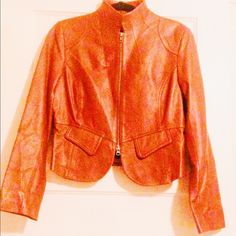 SALE Stylish Leather jacket 100% real leather body by Victoria secret jacket no flaws or signs of aging, well maintained with snap cuffs and faux pockets on the front, very sliming! Due to lighting, colors may be screwed. I've done my best to portray accurate colors  Trading ✅Use the offer button only, it's free. REASONABLE OFFERS ONLY Ⓜ️ercari (this item cost less here) https://www.mercari.com/u/804175567/ All items listed that DO NOT say sold are available  I WILL NOT HOLD ITEMS Victoria's…