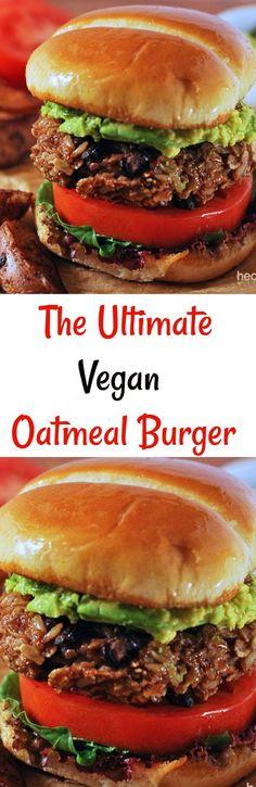 The Ultimate Vegan Oatmeal Burger, vegan, gluten-free!