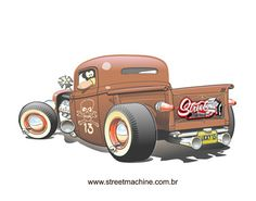 rat rods cartoons | Rat Rod Drawings http://www.streetmachine.com.br/desenhos/pages/rat ...