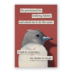 Hey, I found this really awesome Etsy listing at https://www.etsy.com/listing/247851807/fidelity-magnet-bird-humor-gift-stocking