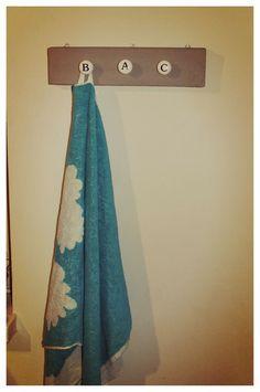 Towel hanger for Bea-Alexandra Charlotta (I didn't misspell my ABC's)