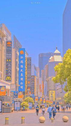 Look Wallpaper, Aesthetic Desktop Wallpaper, City Wallpaper, Kawaii Wallpaper, Aesthetic Backgrounds, Anime Backgrounds Wallpapers, Anime Scenery Wallpaper, Cute Cartoon Wallpapers, Aesthetic Japan