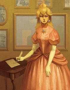 Princess Peach, heroine of Nintendo's Mario video game universe, reimagined.