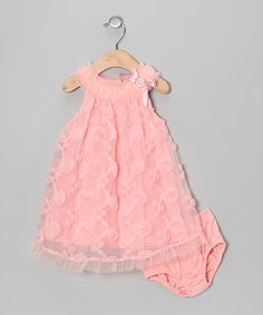 Look what I found on #zulily! Pink Yoke Dress & Diaper Cover - Infant #zulilyfinds