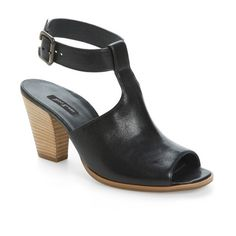 Women's Paul Green Madonna Ankle Strap Sandal ($320) ❤ liked on Polyvore featuring shoes, sandals, black leather, leather sandals, ankle strap sandals, leather ankle strap sandals, leather shoes and black leather shoes