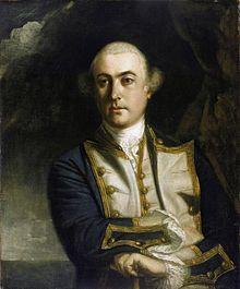 John 4. Lord Byron, 8.11.1723 - 10.4.1786, engl. Seefahrer, Weltumsegler, Entdecker und Admiral, Großvater des Schriftstellers Lord Byron. Eroberer der Falklandinseln für die britische Krone.