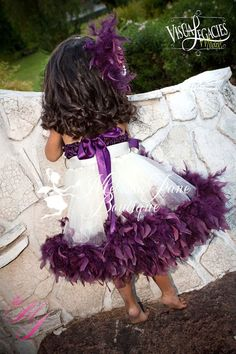 Plum Devine Girls Rosette Fluffy Dress | MelissaJane Boutique | Quality Children's Dresses