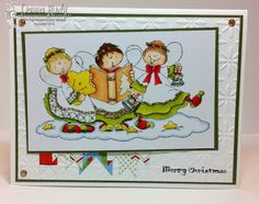 """High Hopes Stamps: Angel Trio by Donna using """"Angel Trio"""" (T128)"""