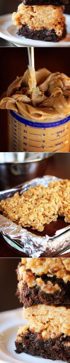 Peanut Buttery Snap Crackle 'n Pop Brownies!