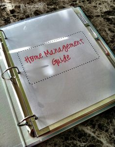 Home Organization binder (Free Printables)