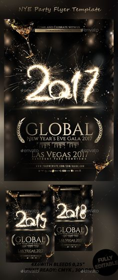 New Year Eve Flyer \/ Invitation Party flyer, Flyer template and - new year brochure template