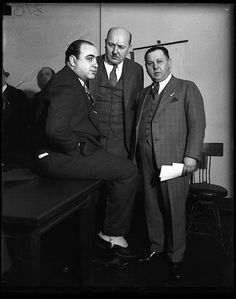 Photo of Al Capone during his 1931 trial for tax evasion