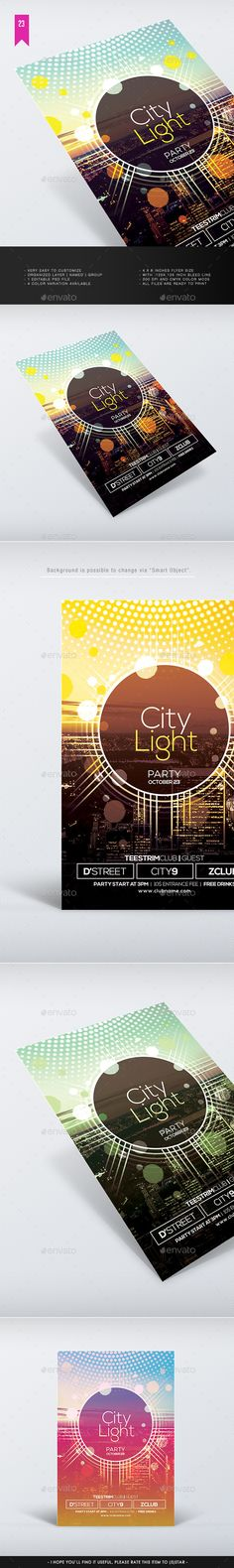 City Light Flyer Template #design Download: http://graphicriver.net/item/city-light-flyer-template/12579519?ref=ksioks