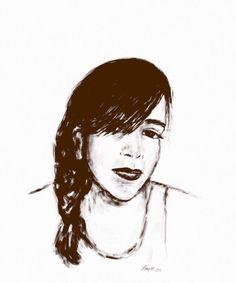Self portrait by Lunoday on iPad using Auryn Ink #aurynink...
