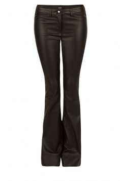 Arma | Flared Lamb leather stretch pants Millau | black