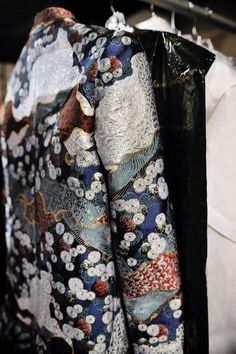 An exquisite embroidered jacket backstage at Proenza Schouler. Photo by Nina Westervelt/MCV Photo