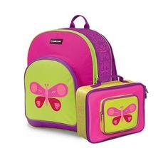 Crocodile Creek Butterfly Backpack & Lunchbox Set
