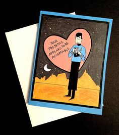 Star Trek  Spock Valentine's Day Card by LeaseAPenny on Etsy, $4.00