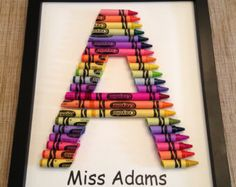 crayon framed letter - Google Search
