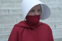 """This blood-dystopic series is an adaptation of The Handmaid's Tale, a novel published in 1985 by Canadian-born Margaret Atwood. Her heroine, Offred (Elisabeth Moss) is a """"handmaid"""", a. Elisabeth Moss, Margaret Atwood, Handmaid's Tale Tv, Babadook, Wes Anderson Movies, Jordan Peele, Next Film, Invisible Man, The Exorcist"""