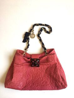 Authentic Lanvin LeatherTote Pink Bag