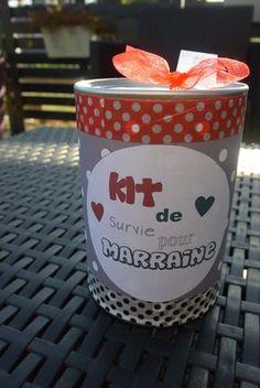Kit de survie pour marraine  personalisable  idée cadeau pour demander à être marraine