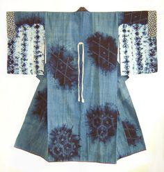 A Northern Japanese indigo dyed shibori juban
