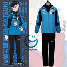 Cheap full suit, Buy Quality cosplay costume men directly from China cosplay costume Suppliers: YURI on ICE Katsuki Yuri Cosplay Costumes Men Sport Suit Sportwear Outfit Blue Jacket+Black Top+Black Pants Full Set Anime Costumes, Cosplay Costumes, Cosplay Ideas, Yuri On Ice Cosplay, Anime Cosplay, Katsuki Yuri, Yuuri Katsuki, ユーリ!!! On Ice, Cosplay Characters
