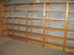 unfinished basement-- shelves! | Flickr - Photo Sharing!