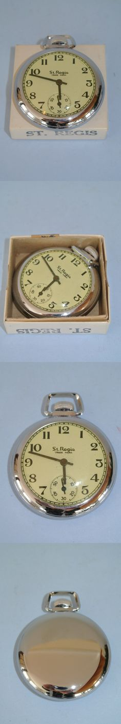 Other Pocket Watches 398: Vintage 1950S Ingraham St. Regis Pocket Watch ~ New Old Stock BUY IT NOW ONLY: $59.99